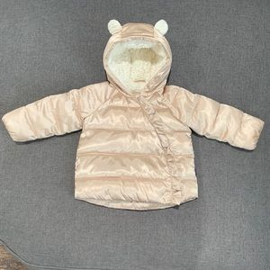 Baby Gap 🧸 Champagne Bear Coat 18-24 months